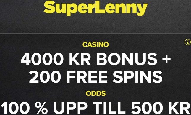 gratis free spins på SuperLenny