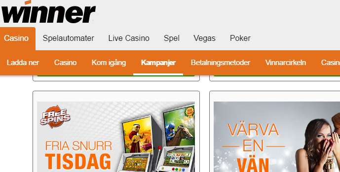Winner Casino freespins
