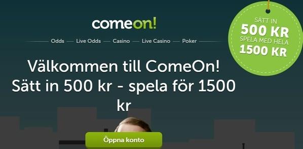 ComeOn! casino, som du kommer lära av denna recension