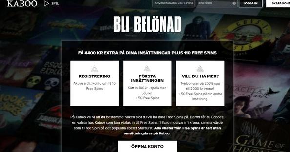 Kaboo Casino gratis spinn