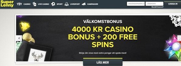 Läs vår recension av SuperLenny casino