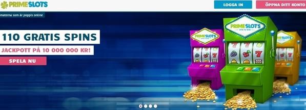PrimeSlots casino recension