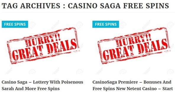 Casino Saga freespins
