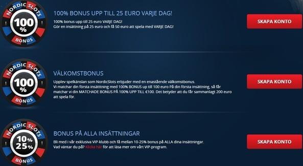 NordicSlots gratis free spins